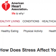 American Heart Association How Does Stress Affe
