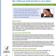 National Institute of Mental Health : Fact Sheet on Stress