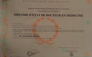 Diplome Medicine POC Mehdi Bouricha These medecine