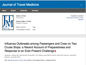 Influenza Outbreaks among Passengers and Crew on Two Cruise Ships: a Recent Account of Preparedness and Response to an Ever-Present Challenge