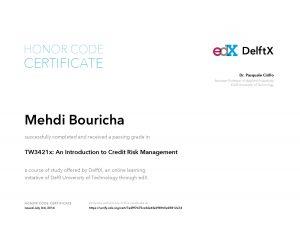 Verify Certificate online : Delft University DelftX - TW3421x An Introduction to Credit Risk Management