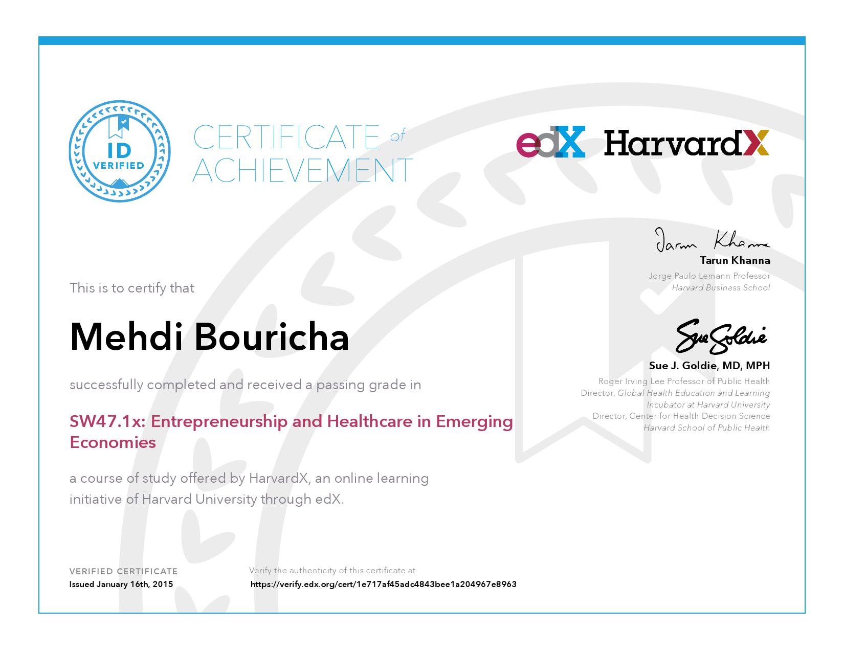 Harvardx Harvard University Sw471x Entrepreneurship And
