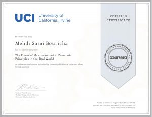 UCI University of California Irvine - The power of macroeconomics Economics principles in the real world