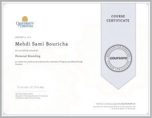 Verify Certificate online : University of Alberta - Personal Branding